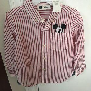 NWT 3t Mickey (Disney) baby gap button down shirt